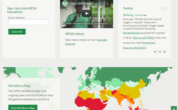Website Calls to Action, Content Highlights and Social Media 'Feeds'