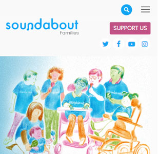Soundabout Families, Education Charity. Mobile view
