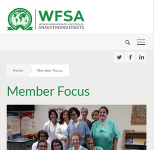 WFSA, Medical Charity. Mobile view
